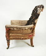 19th century high-backed library chair