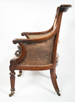 Early 19th century mahogany Bergere