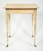 Regency dry scraped side table