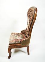 Mid 19th century rosewood nursing chair