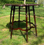 Pair of mahogany occasional tables