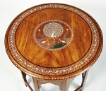 Indian ivory, bone and parquetry occasional table