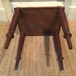 19th century mahogany fluted leg stool