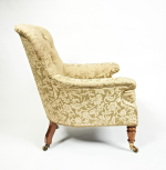 A William IV upholstered armchair