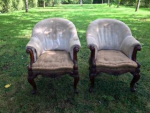 A pair of early Victorian Library chairs