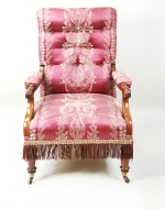 A pair of regency mahogany upholstered armchairs, early 19th century