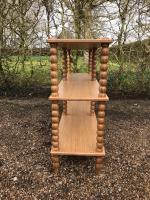 Reproduction oak bobbin side table