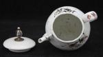 White glazed miniature pot