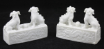 Pair of Blanc de Chine scroll weights