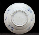 Blue and white Arita dish