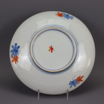 Plate with leaves