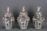Set of three vases