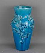 Blue turquoise monochrome vase